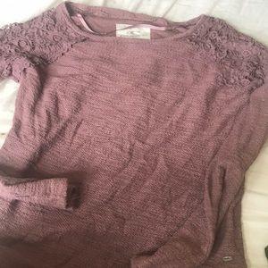 Long-Sleeved Purple Sweater